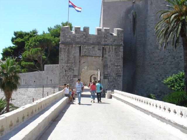 Kroatie foto dubrovnik ingang - Ingang van een huis ...